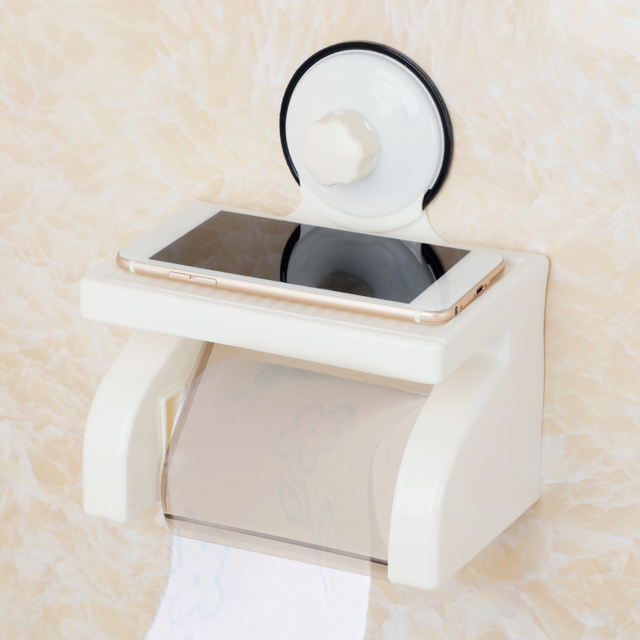 1pc Bathroom Tissue Box Plastic Multi Function Roll Paper Protective Phone Towels
