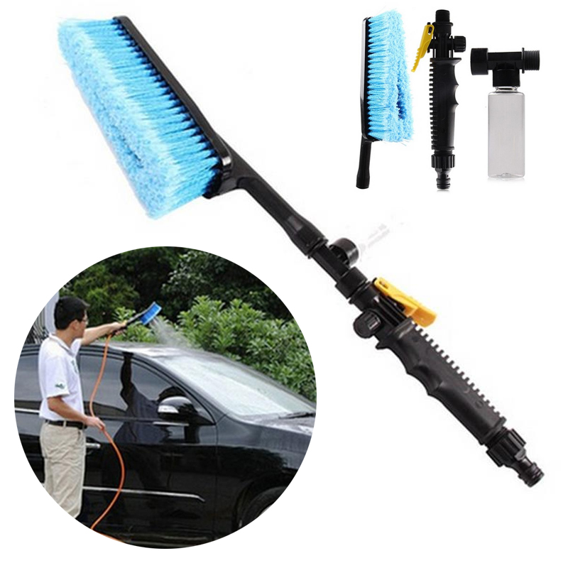 Car Wash Brush >> Us 8 0 Car Wash Brush Retractable Long Handle Water Flow Switch Foam Bottle Hose Adapter Vehicle Truck Cleaning Car Care In Sponges Cloths