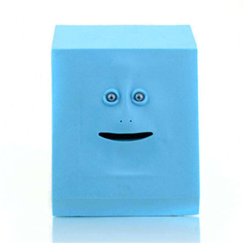 Blue Face Bank Money Eating Electronic Motion Sensor Automated Money Saving Box