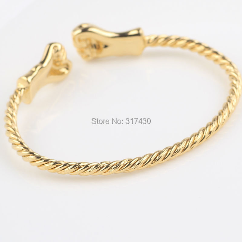 Smooth Cuff Bangle 24k Real Yellow Gold Filled Baby Bangle Fashion ...
