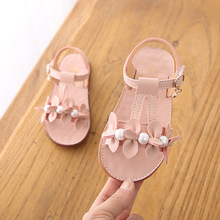 2019 New Summer Children Sandals for Girls Soft Leather Flowers Princess Girl Shoes Kids Beach Sandals Baby Bead Shoes новгородская сага книга 4 час новгородской славы