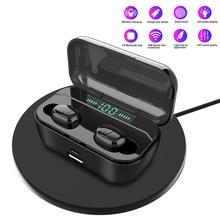 G6S TWS Mini Wireless Bluetooth Earphones 8D Stereo Waterproof Headsets with 3500mAh LED Display Charging Box