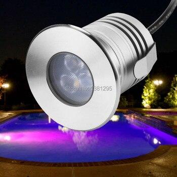 Iluminación LED de baja tensión para exterior, iluminación LED para exterior de 12V, 3W, IP68, lámpara LED impermeable para estanque, lámpara LED para piscina, accesorio de iluminación