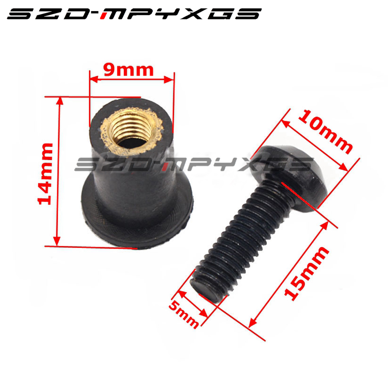 10Ps Motorcycle 5mm Windscreen Windshield Bolts Screw Nut Fastener Kit For YAMAHA YZF R1 R3 R6 R15 R25 FZ6 MT 07 MT 07 in Covers Ornamental Mouldings from Automobiles Motorcycles