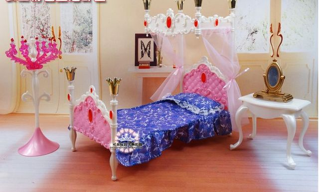 Dreamlike Doll Bed Dresser Set / Dollhouse Bedroom Furniture DIY ...