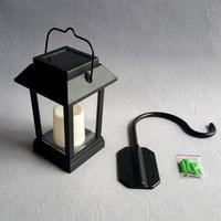 IP65 Waterproof Solar Lantern Hanging LED Candle Light Outdoor Garden Porch Courtyard Decoration Solar Wall Lamp
