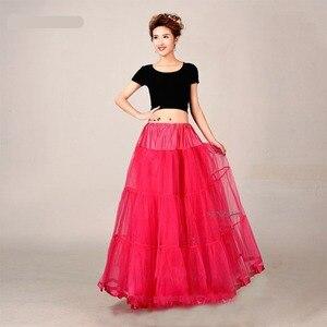 Image 4 - ארוך תחתוניות לחתונה שמלת כלה תחתונית סגול תחתוניות Hoepelrok חתונה אביזרי מזדמן חצאית