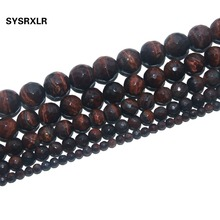 Free Shipping Faceted Natural Stone Red Tiger Eye Round Beads For Jewelry Making Charm DIY Bracelet Necklace 4/6/8/10/12 MM