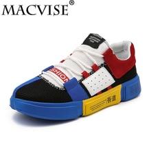 Big Size Men's Leisure Vulcanize Flats Shoes Mix-color Lace Up Soft Red Bottoms Shoes Couple Designer Ultral-licht Shoes