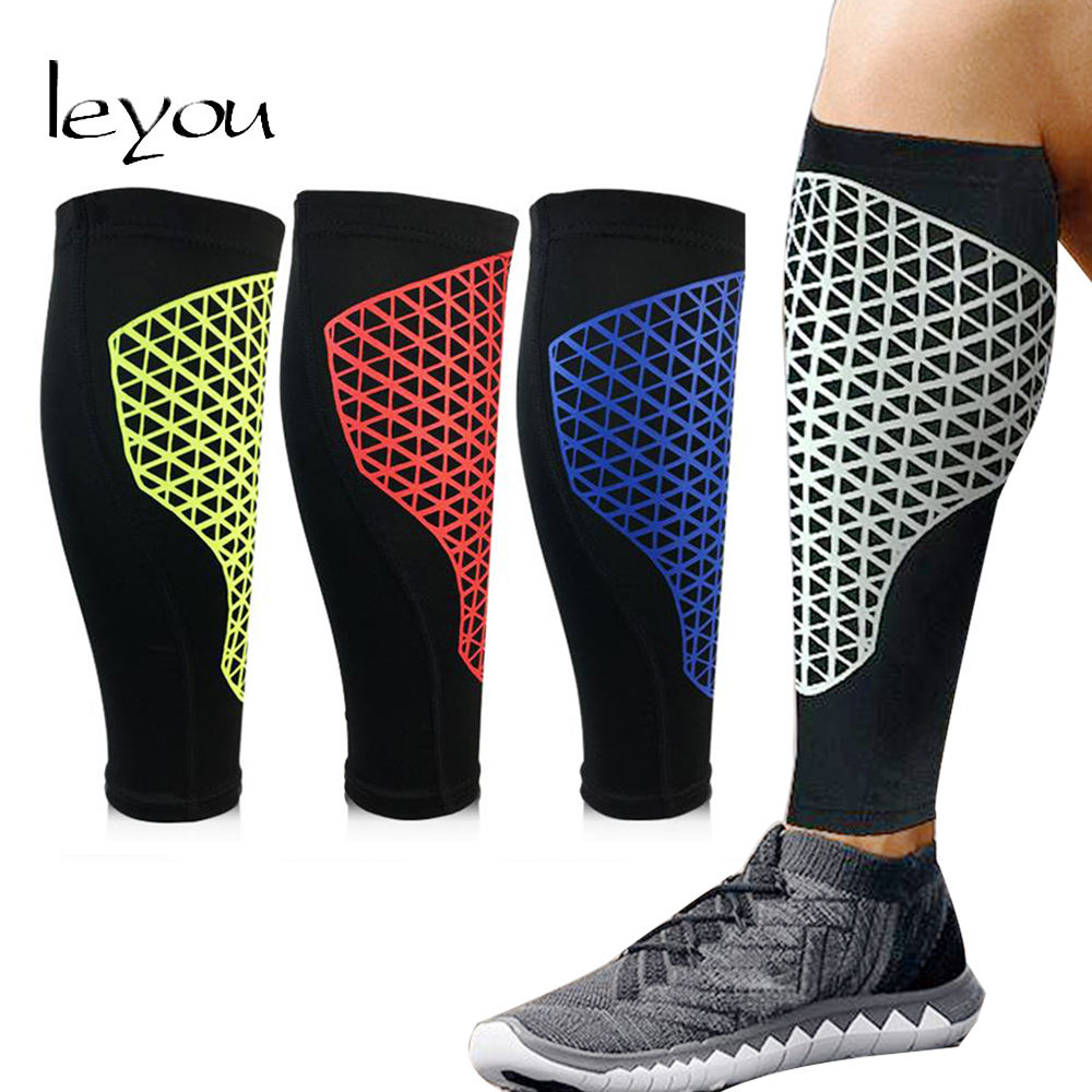 Leyou Unisex Basketball Leg Sleeve Honeycomb Elastic Leg Sleeves Knee Pads Soccer Leg Pads Calf Support Sleeves
