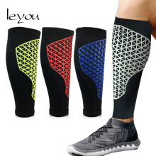 Leyou Unisex Basketball Leg Sleeve Honeycomb Elastic Sleeves Knee Pads Soccer Calf Support