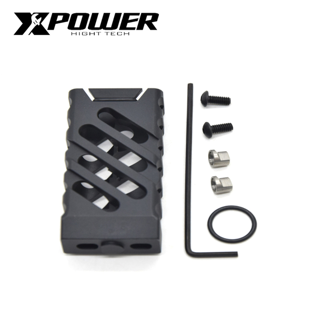 XPOWER VTAC CNC Grip Paintball Receiver M lok & Keymod For Air Guns AEG Tactical CS Sports  Wells M4 Gearbox