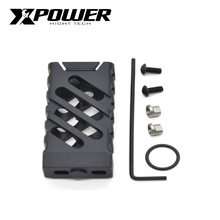 Xpower vtac cnc grip paintball receptor m lok & keymod para armas de ar aeg tactical cs sports wells m4 caixa de velocidades
