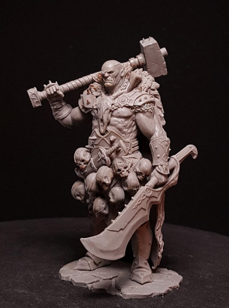 1/24 75MM Ancient Orc Stand With BASE 75mm    Resin Figure Model Kits Miniature Gk Unassembly Unpainted