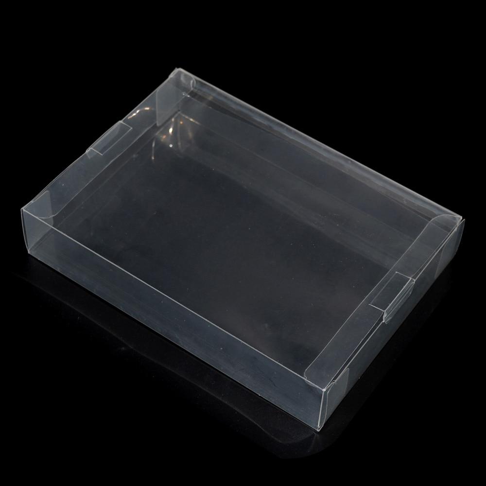100 pcs beaucoup Effacer transparent Protecteur Cas CIB jeux en plastique PET Protection Boîte pour SNES Pour N64 boîtes de jeu