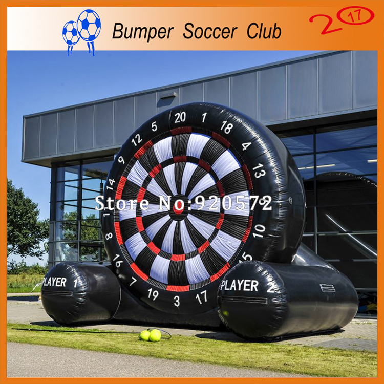 Free shipping ! 3m/4m/5m/6m/7m New Outdoor giant inflatable soccer dart board , inflatable dart board with stand for sale free shipping 4m giant inflatable football dart inflatable shooting wall for sale inflatable target football wall