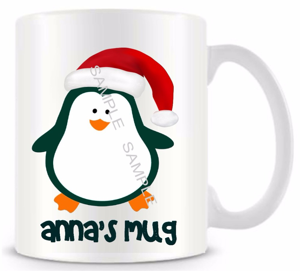 best personalized gifts penguin ceramic white coffee tea milk mug funny novelty travel mug cup custom birthday easter gifts 11oz negle Image collections