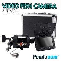 """F06A POMIACAM Video Fisch Finder Unterwasser Video Ice Fishfinder Angeln Kamera 8 stücke Infrarot LED 4 3 """"zoll monitor kamera kit-in Überwachungskameras aus Sicherheit und Schutz bei"""