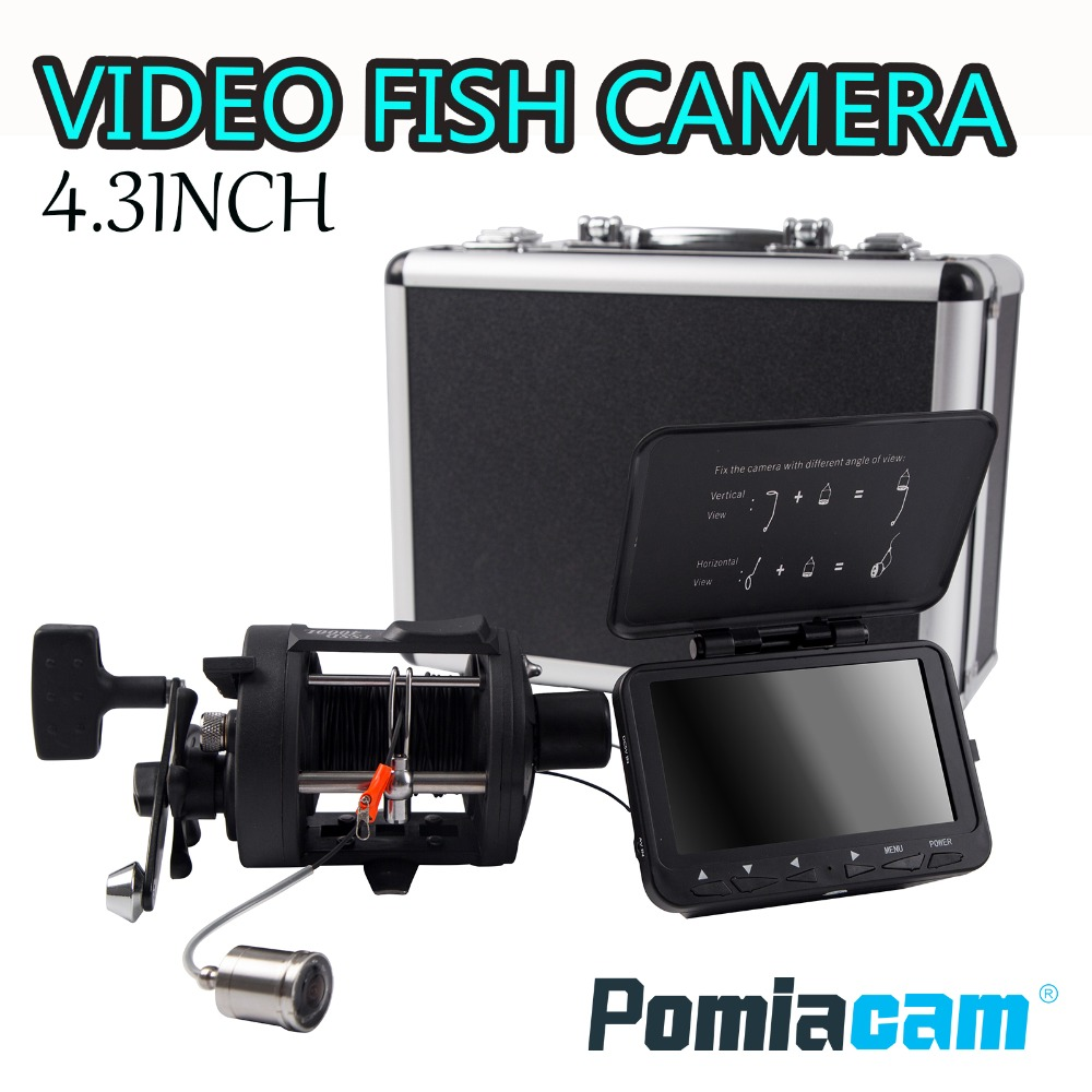 """F06A POMIACAM Video Fish Finder Underwater Ice Video Fishfinder Fishing Camera 8pcs Infrared LED 4.3"""" inch monitor camera kit