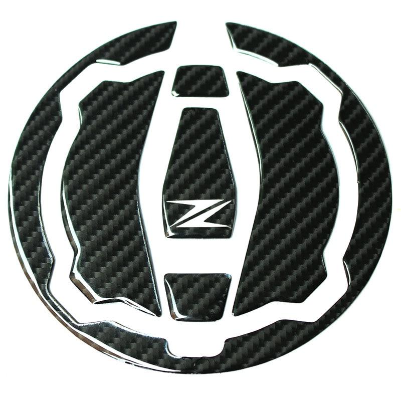 K-SHRP 3D Carbon Fiber Tank Gas Cap Pad Filler Cover Sticker Decals Fit KAWASAKI Z900 Z650 2017