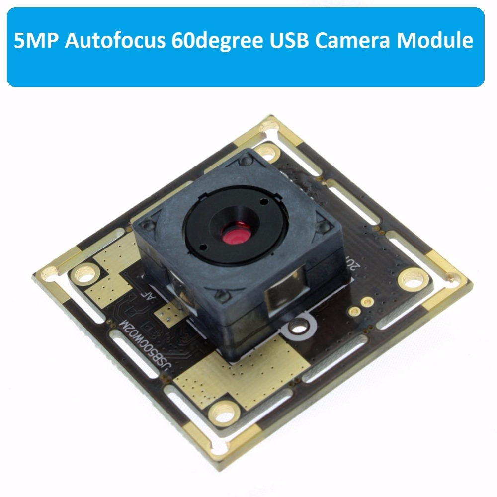 5megapixel 2592X1944 MJPEG CCTV 60 degree autofocus lens CMOS OV5640 mini UVC USB2 0 auto focus