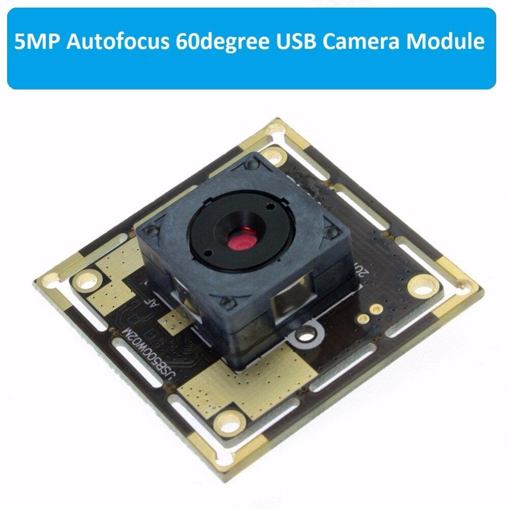 5 megapixel 2592X1944 MJPEG CCTV 60 gradi lente autofocus CMOS OV5640 mini UVC USB2.0 auto messa a fuoco della fotocamera modulo per il documento di scansione-in Telecamere di sorveglianza da Sicurezza e protezione su  Gruppo 1