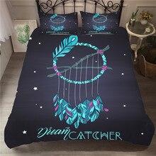 寝具セット 3D プリント布団カバーベッドセット大人のためのドリームキャッチャーボヘミアホームテキスタイル寝具枕 # BMW02