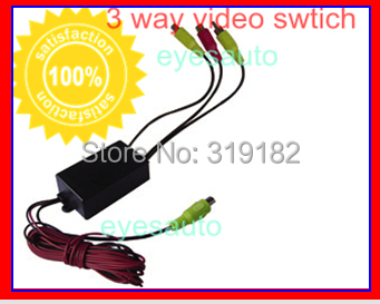 Three channel car camera video controller box(car video automatic switch) control rear /side or front cameras DVD/VCR