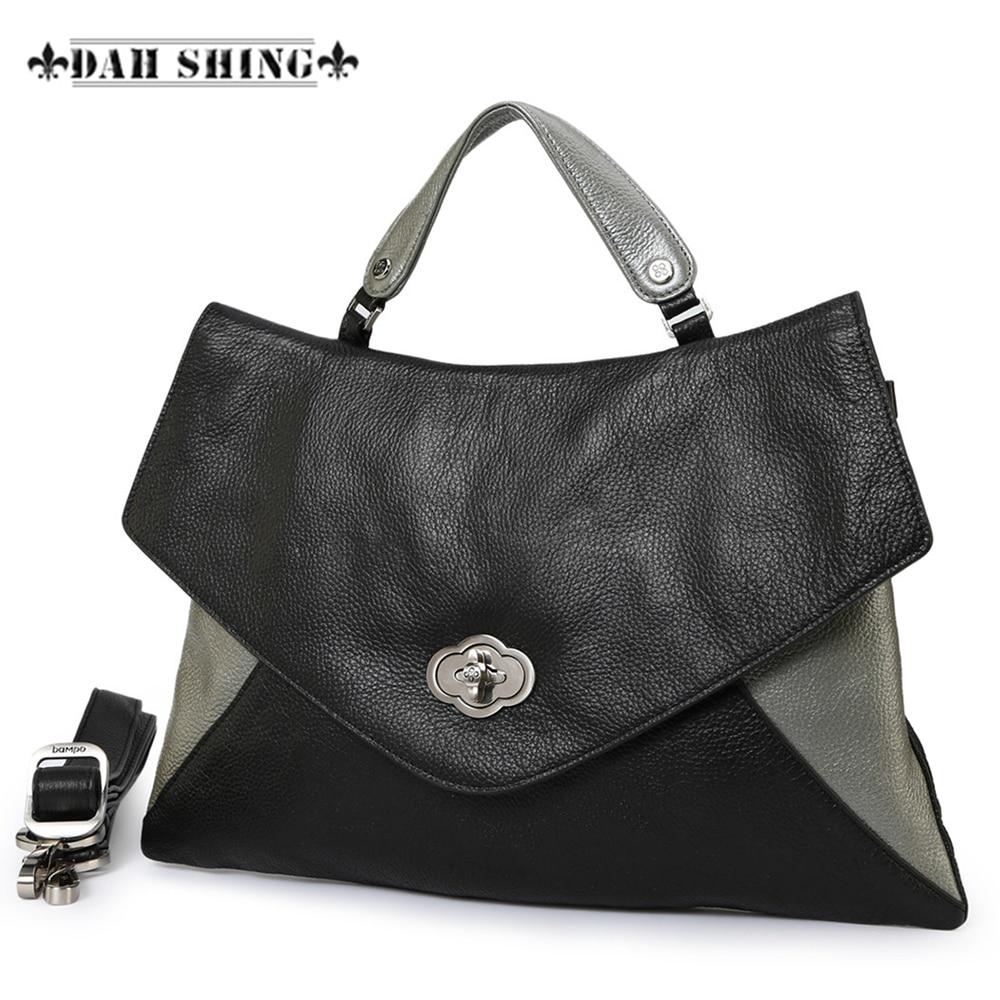 Modni kontrast boja 100% Prava zrnasta koža Ženska torba omotnica - Torbe