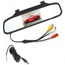 4.3 «цветной TFT LCD Автомобильное Зеркало Заднего Вида Монитор 4.3 Дюймов Автомобиля Экрана монитор для Автомобилей Подходит Для Резервного Копирования Обратная Камера Заднего вида DVD