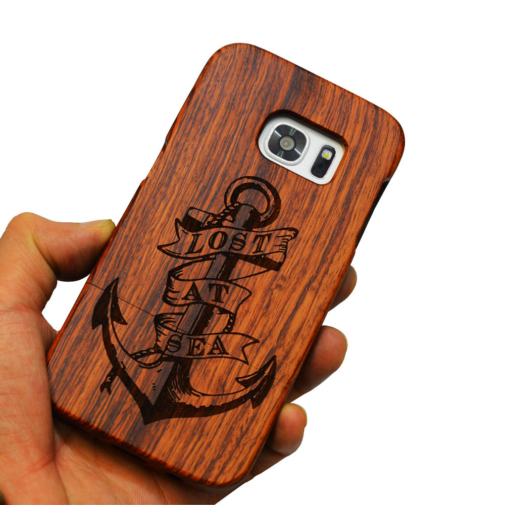 For Samsung s7 Edge Case Full Protective Wood Carved Back Hard Cover S7 edge Cases for Samsung galaxy s7