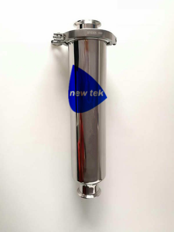 Long 1.5 Inch (OD50.5mm) Tri Clamp Inline Wort Strainer With 102mm Body 304 Stainless Steel
