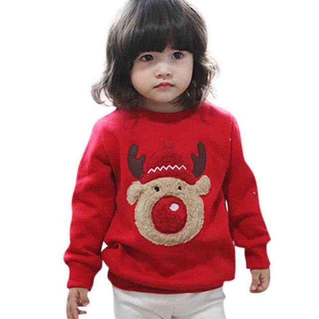 727f5ff47 Cute boys girls autumn winter knitted Christmas deer Pullover ...