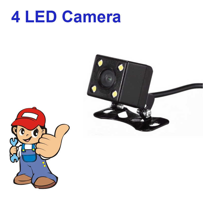 2017 promocja HD CCD 4 widzenie nocne led kamera tylna 170 szerokokątny rewers Rearview Car Backup kamera parkowania drut szklany
