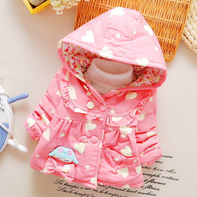 2016 the new new winter cotton-padded clothes of the girls Children's coat pure cotton cotton coat 0-1-2 years old baby's coat