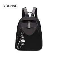 YOUNNE Women Backpacks Teenager Satchels School Bags For Girls Oxford Cloth Black Bagpack Ladies Travelling Shopping