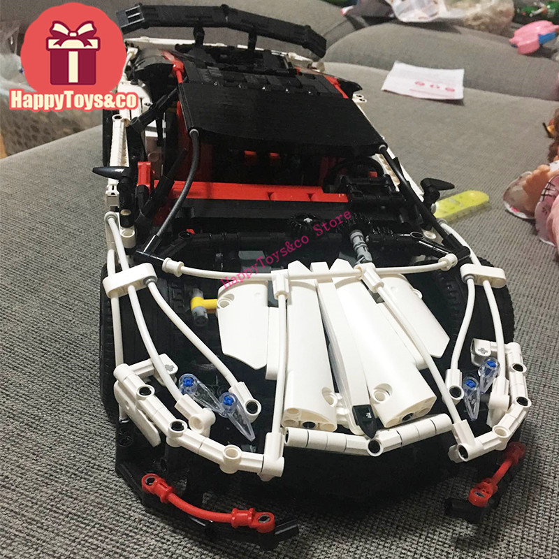 Lepin New Technology Series 2695 2838Pcs Super white sports car toys For Children Gift 23006 Building Blocks Set Compatible new lepin 16009 1151pcs queen anne s revenge pirates of the caribbean building blocks set compatible legoed with 4195 children