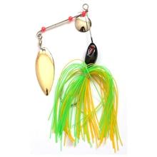 цена на 1pcs/pack metal spoon spinner bait 11g/14g/18g/21g various beard sequins rotative spinner bass fishing metal lure bait tackle