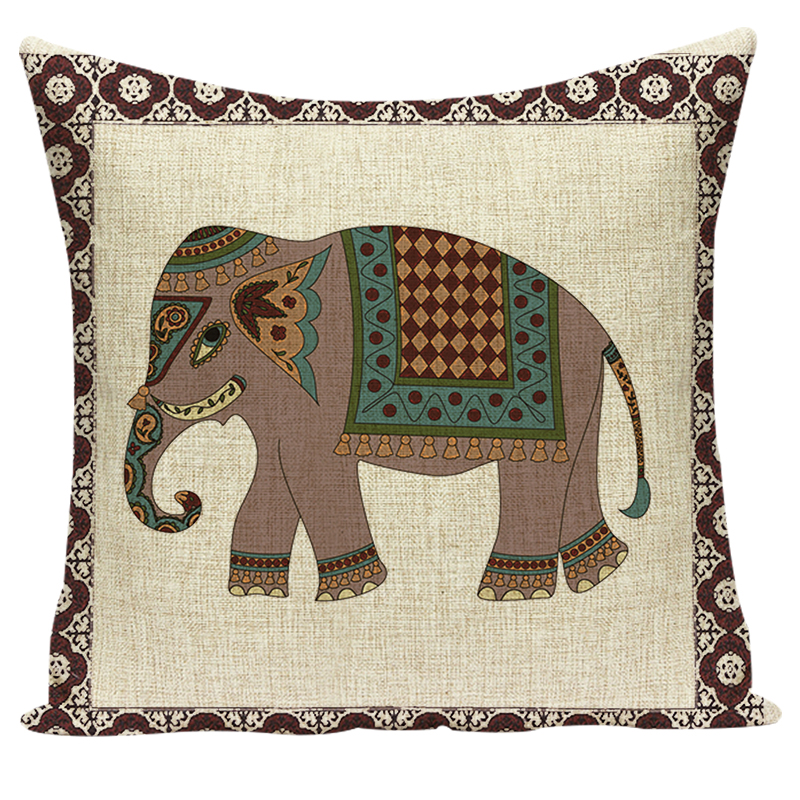 Elephant Cushion Cover Indian Cushions Home Decor Таңдамалы - Үй тоқыма - фото 6