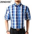 Camisa para hombre de alta calidad de los hombres clásicos camisa a cuadros camisa de vestir de los hombres de negocios camisas formales mens clothing