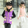 The New 2016 Lovely Child Ma3 Jia3 Girls Winter Children Wool Vest Quality Children's Wear