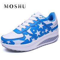 Women Sneakers Summer Lace Up Creepers Platform Trainers England Flag Causal Shoes Zapatos Mujer