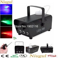 High Quality Remote Control 500W Fog Machine With RGB LED Lights/Smoke Machine Full Color Smoke Generator LED Stage Party Fogger
