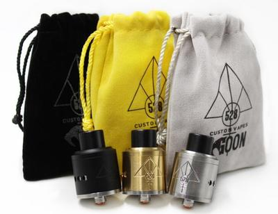 <font><b>GOON</b></font> 528 <font><b>RDA</b></font> <font><b>22MM</b></font>/24MM Rebuildable Dripping Atomizers With 1 pcs Drip Tips And Metal CHUFF 528 LOGO ON fit 510 Mods image