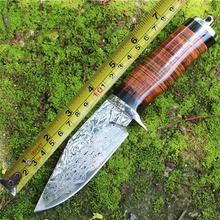 2016 Damascus steel knife/wilderness survival manual forging Outdoor small hunting knife /collection tactical knife