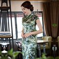 New Arrival Fashion Chinese Style Dress Women's Satin Long Cheongsam Elegant Slim Qipao Clothing Size S M L XL XXL 275922