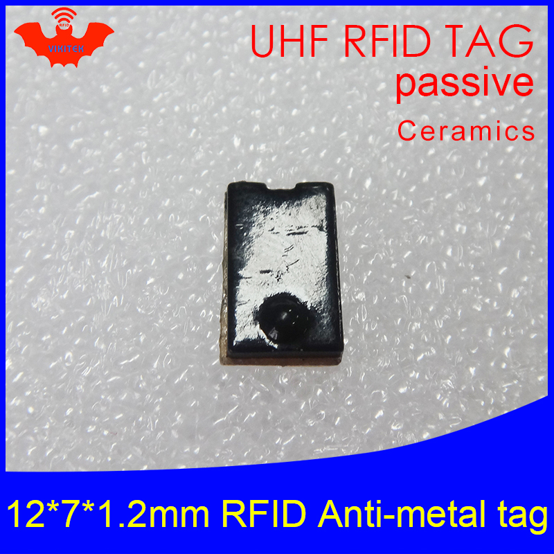 UHF RFID metal tag 915mhz 868mhz Alien Higgs3 EPCC1G2 6C 12*7*1.2mm small thin rectangle Ceramics smart card passive RFID tags