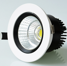 Free Shipping 10W/15W/20W/30W COB LED Downlight Dimmable Indoor recessed down lamps AC85-265V Warm Cold Natural white