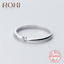 ROXI 2019 New Classic Wedding Rings for Women Real 925 Sterling Silver Ring Simple Dainty Finger Jewelry Engagement Gifts