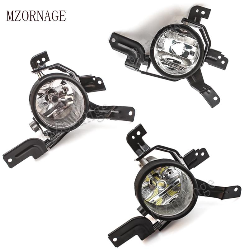 MZORANGE 2pcs Front Bumper Fog lights H11 Halogen LED Bulb No Blub For HONDA CRV CR